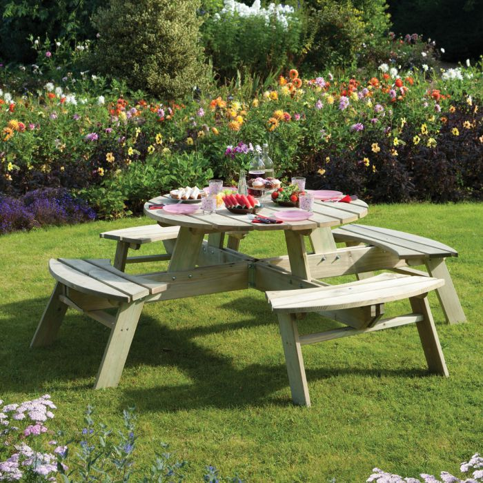 Round Picnic Table, Rowlinson Round Picnic Table